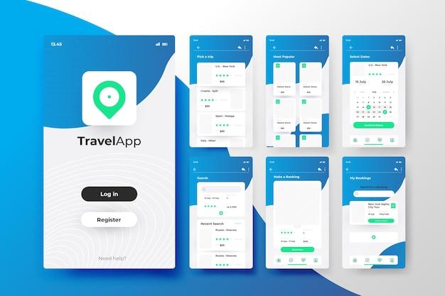 旅行予約アプリのコンセプト 無料ベクター