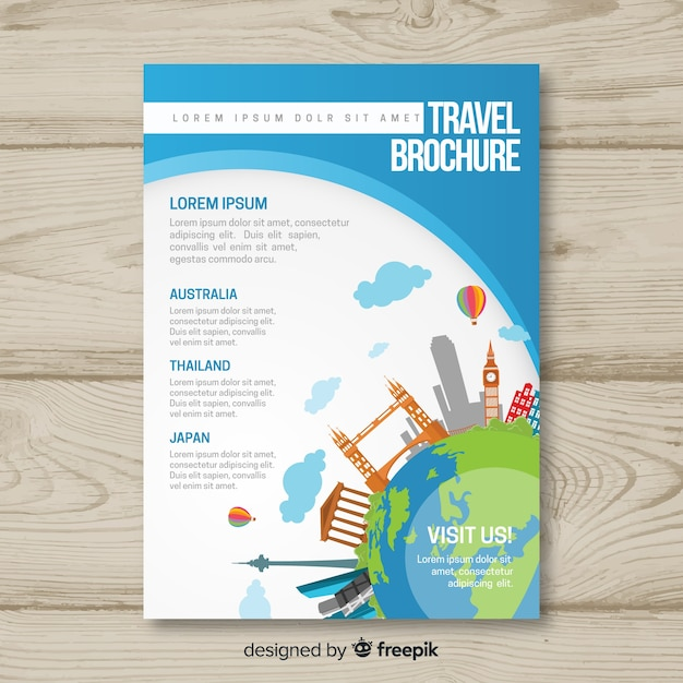 Travel Brochure Template Vector Free Download
