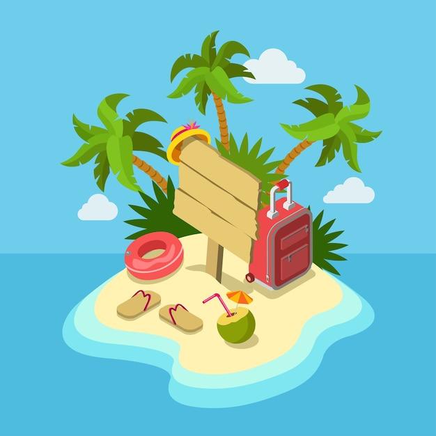 Azienda di viaggio proposta promozionale tour business vacanza flat web Vettore gratuito