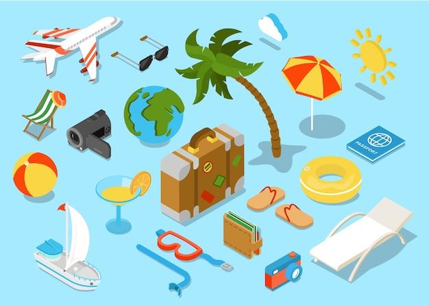 旅行会社提案プロモーションツアー出張 Premiumベクター