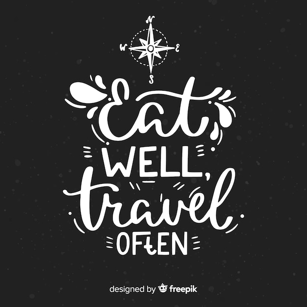 Travel decorative background lettering style Free Vector
