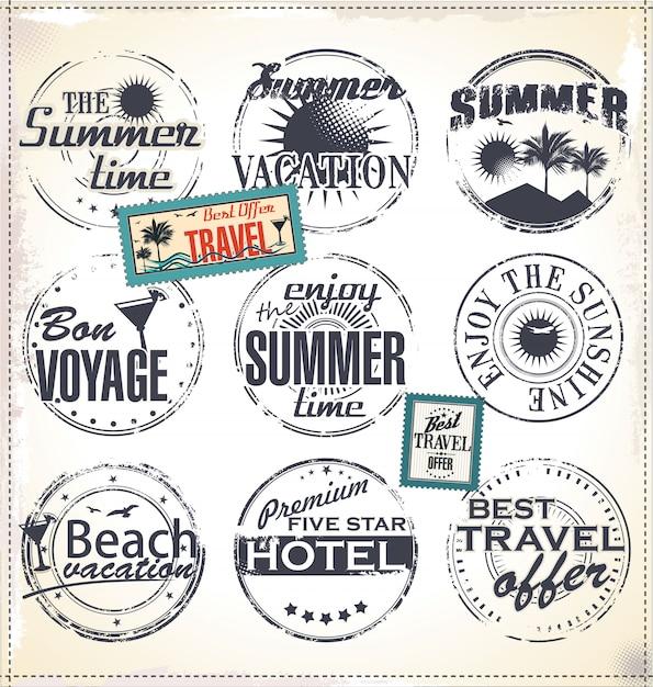 Travel design elements Premium Vector