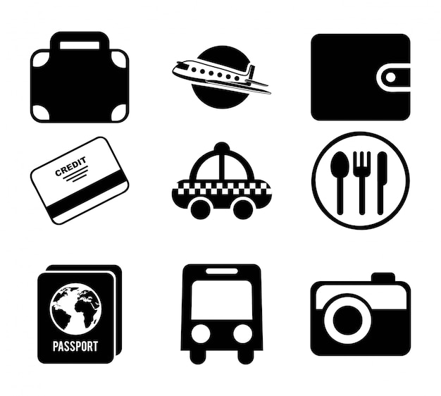 Travel design over white background vector illustration Premium Vector
