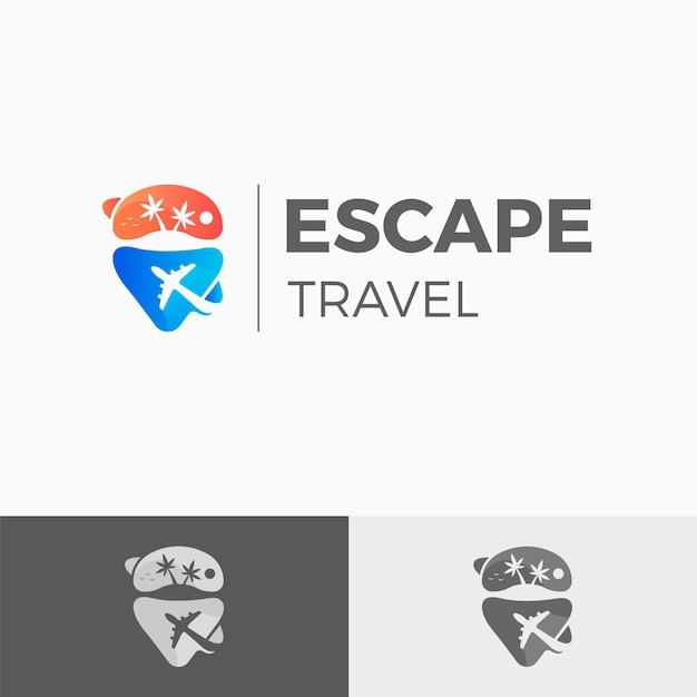 Travel detailed logo template Free Vector