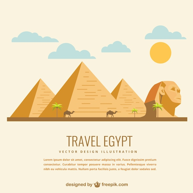 Travel egypt Free Vector