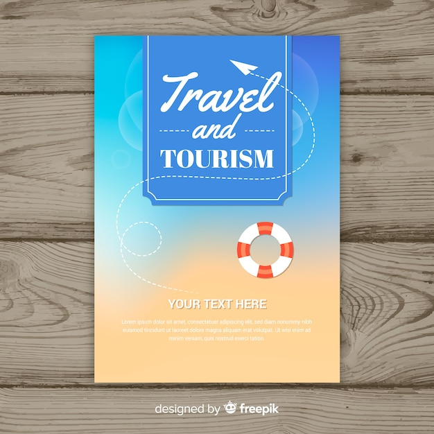 Travel flyer template Free Vector