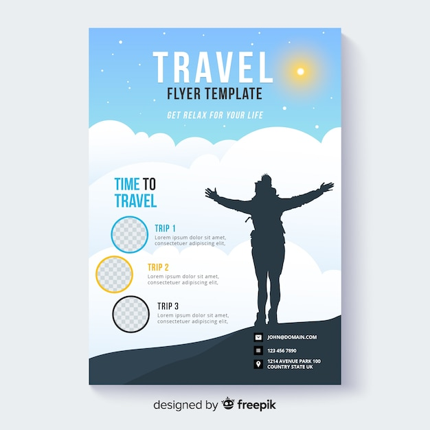 Travel flyer template Vector | Free Download