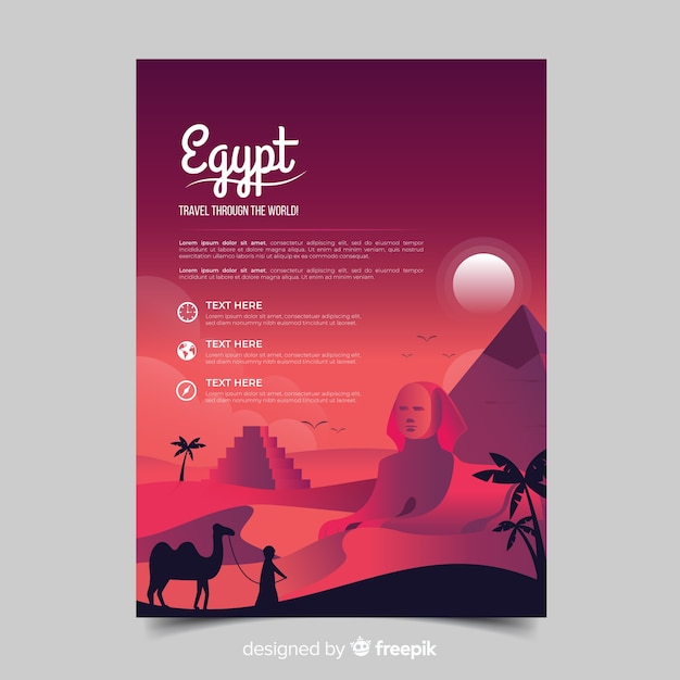 Travel flyer Free Vector