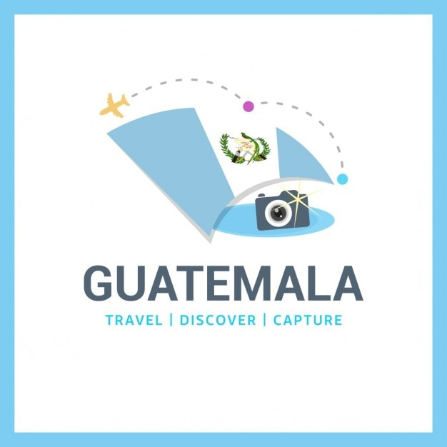Travel to guatemala Free Vector