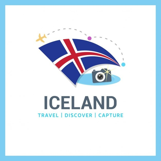 Travel to iceland Free Vector