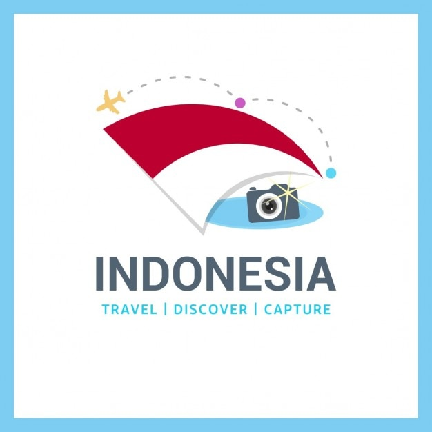 Travel to indonesia Free Vector