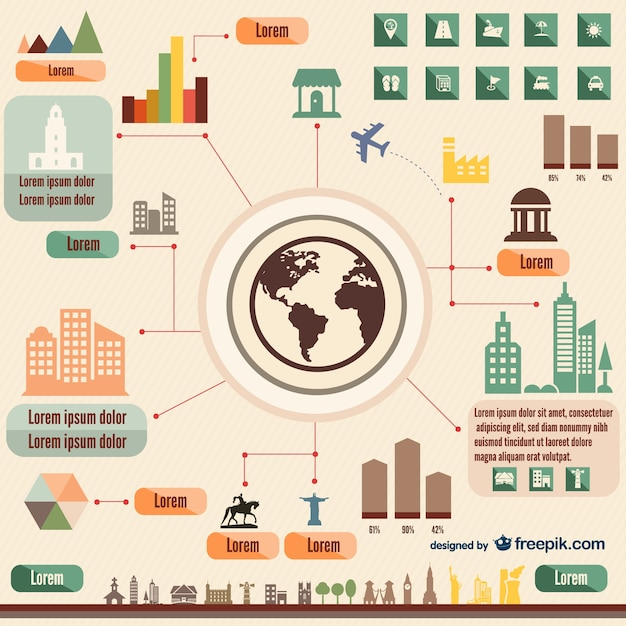 Travel infographic elements Vector | Free Download