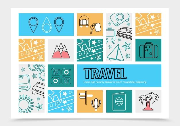 Modello di infografica di viaggio Vettore gratuito