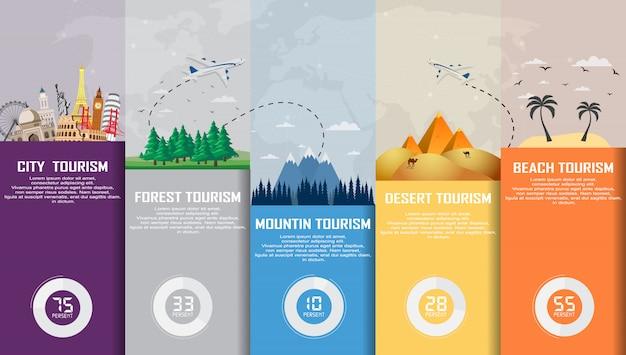 Туристическая инфографика. время путешествовать, туризм, летний отдых. Premium векторы