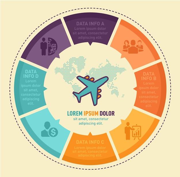 Travel infographic vector design Premium Vector