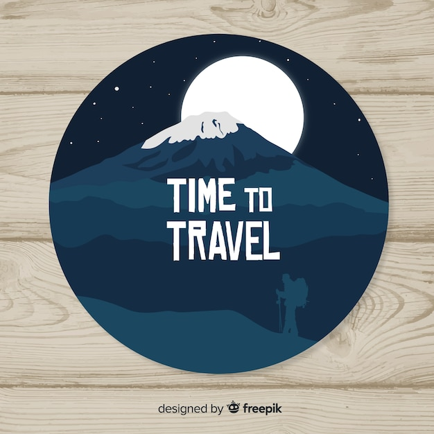 Travel label Free Vector