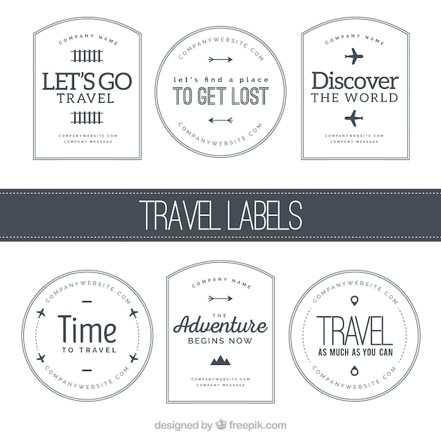 Travel labels collection