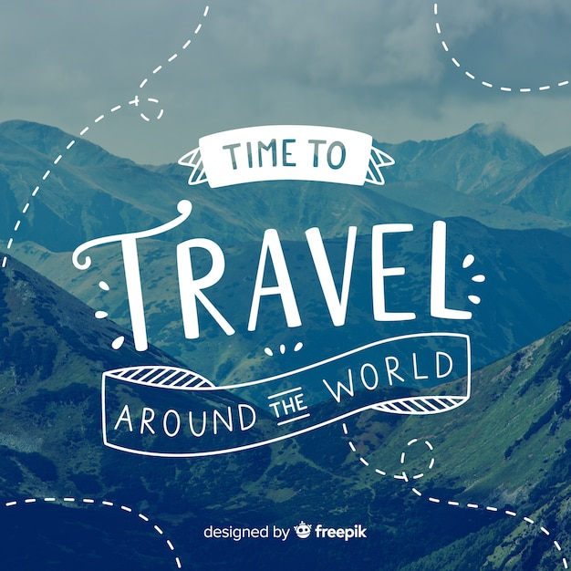 Travel lettering Free Vector