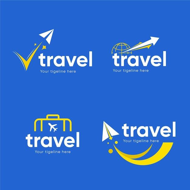 Коллекция логотипов travel Бесплатные векторы