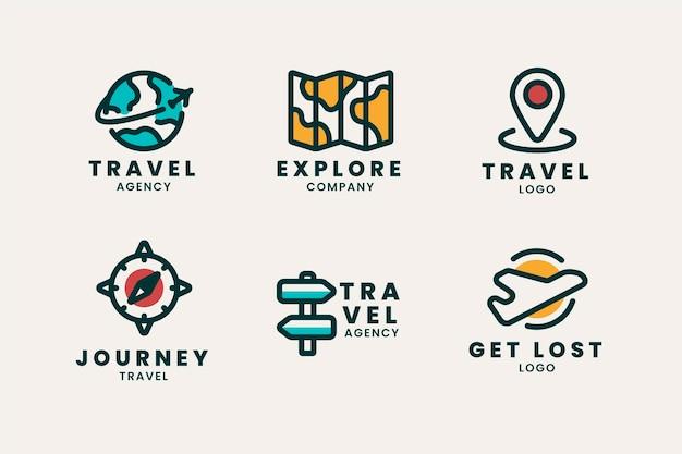 Travel logo collection Premium Vector
