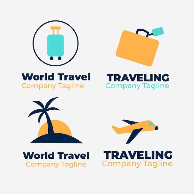 旅行ロゴコレクション 無料ベクター