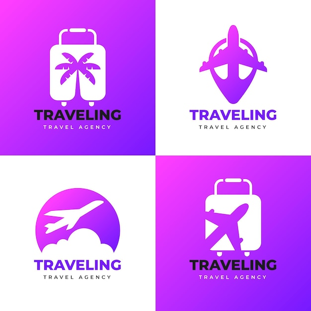 Travel logo template collection Free Vector