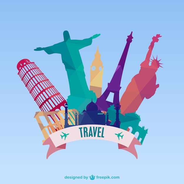 Travel monuments Free Vector