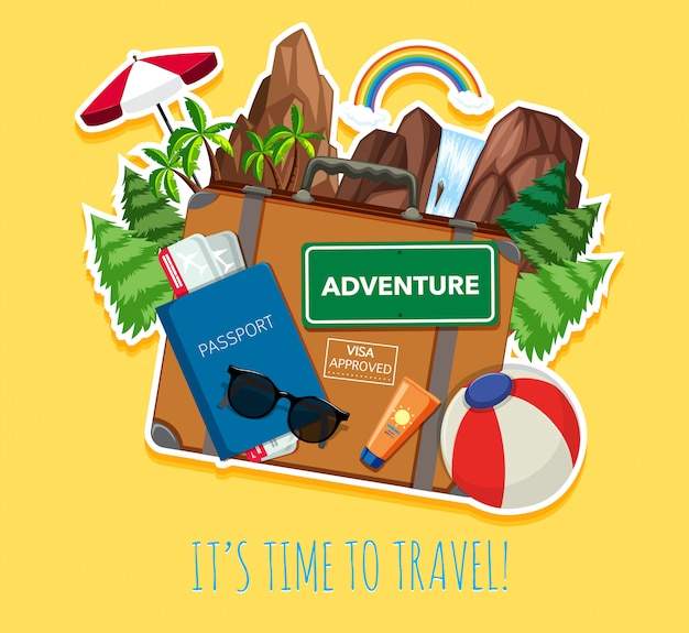 Travel objects Free Vector
