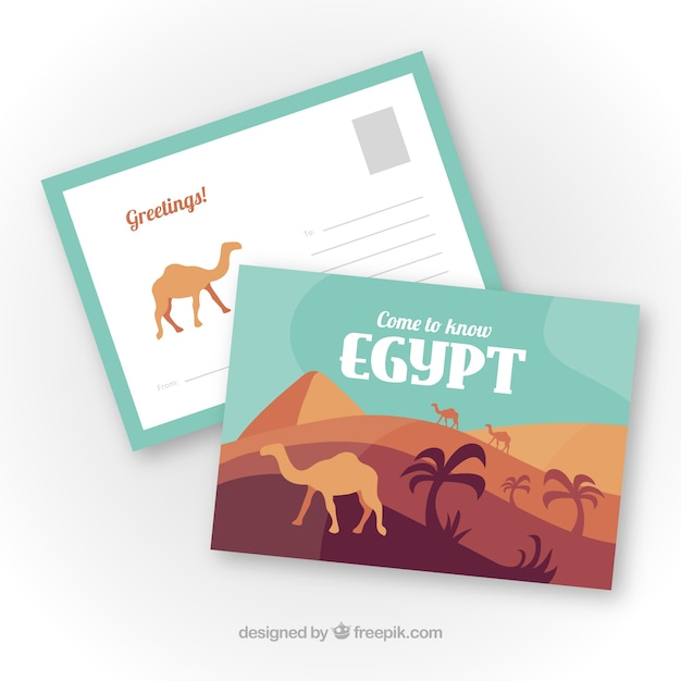 Travel postcard with destination Free Vector