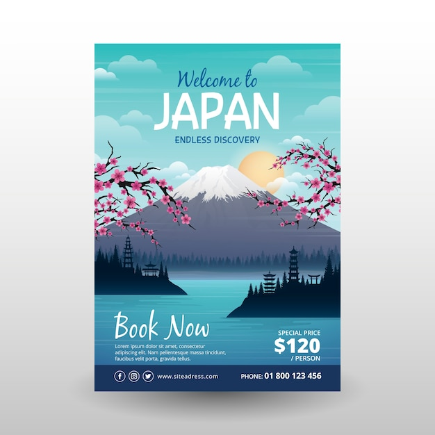 Travel poster concept illustrated Free Vector
