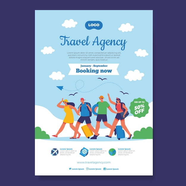 Travel poster concept Free Vector