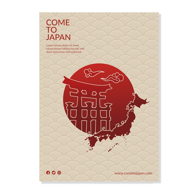 Travel poster template Free Vector