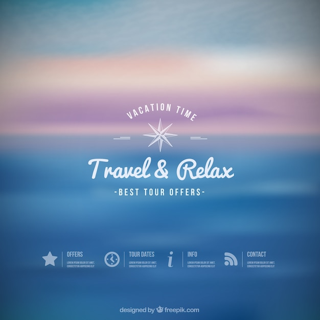 Travel and relax background Free Vector