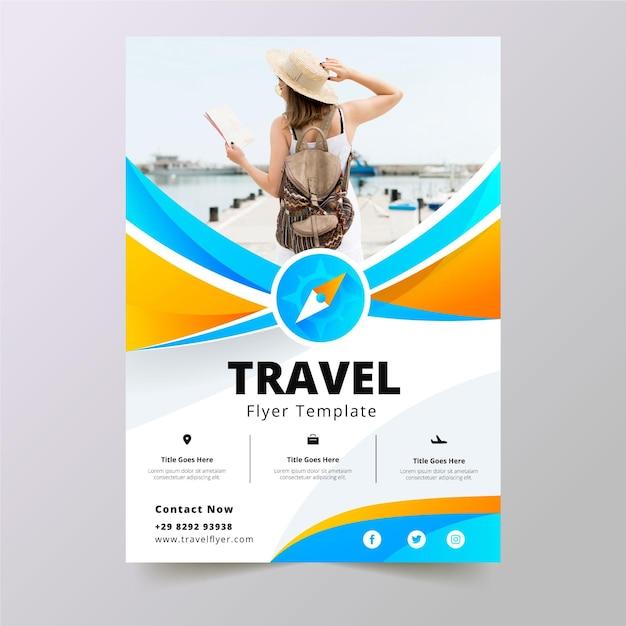 旅行販売チラシテンプレート Premiumベクター
