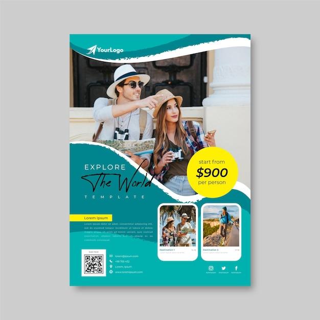 Modello di volantino di vendita di viaggio Vettore gratuito