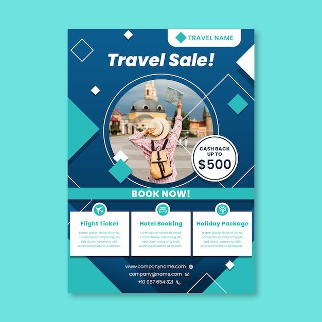 Шаблон флаера для путешествий Бесплатные векторы
