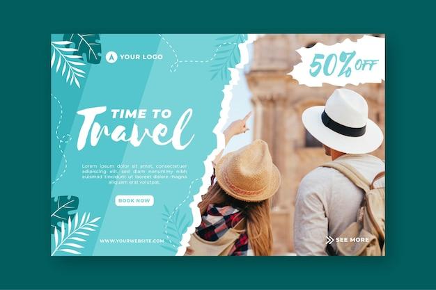 Шаблон целевой страницы продажи путешествия Бесплатные векторы