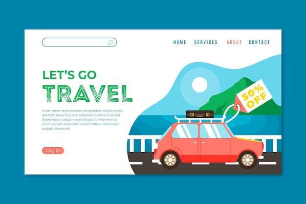 旅行販売ランディングページテンプレート 無料ベクター