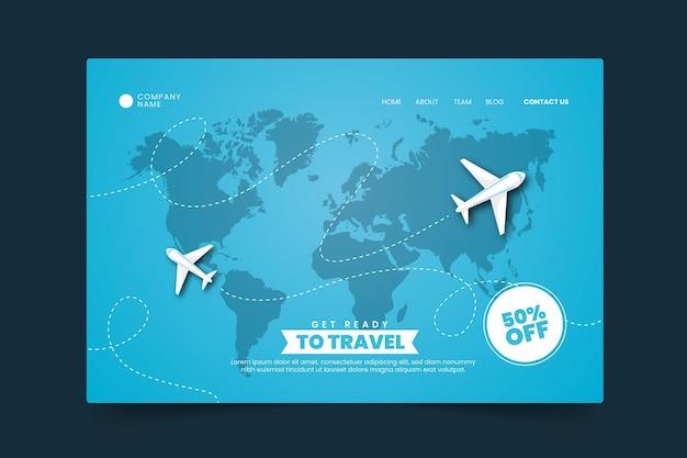 旅行販売ランディングページ 無料ベクター