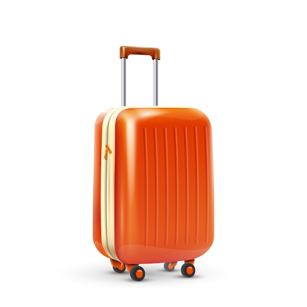 Travel suitcase realistic Free Vector