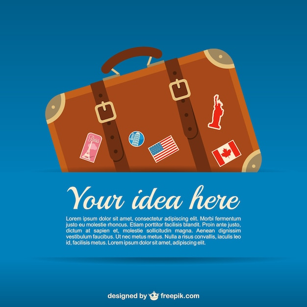 Travel suitcase Free Vector