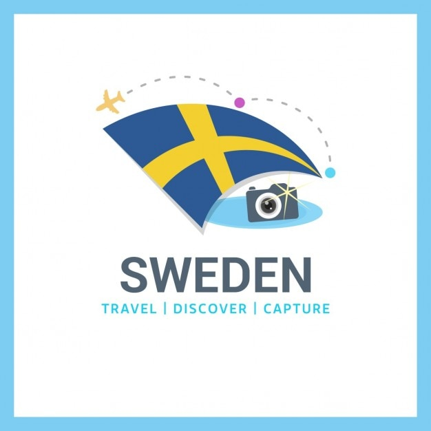 Travel to sweden Free Vector