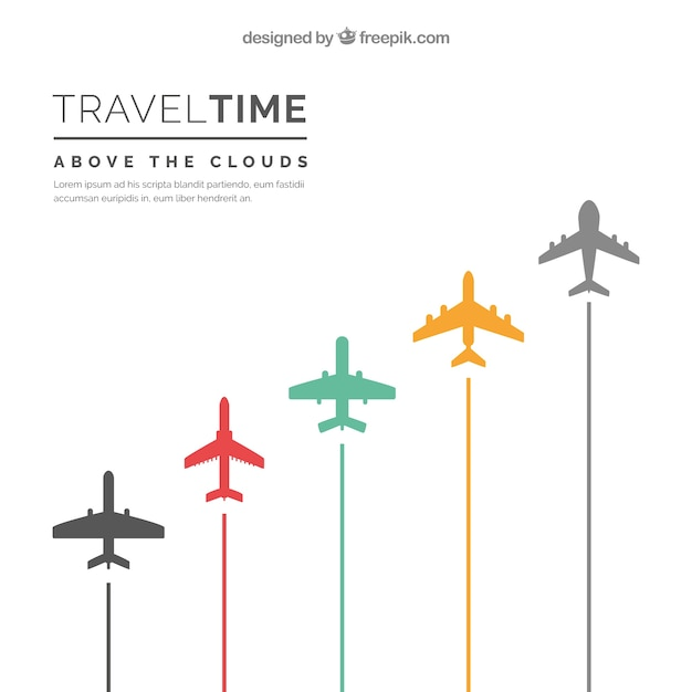 Travel time background Free Vector