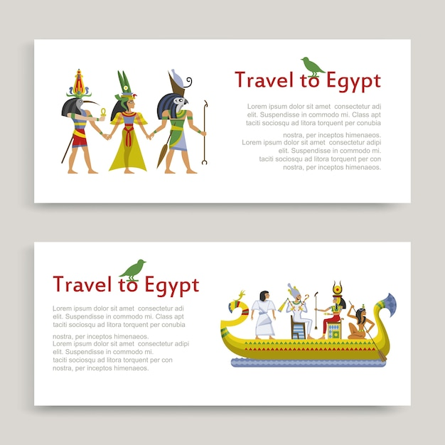 エジプトの碑文セット、古代エジプトのパターン、イラスト、白への旅行します。アフリカ観光、砂漠ツアー、砂浜で有名、歴史スフィンクス。 Premiumベクター