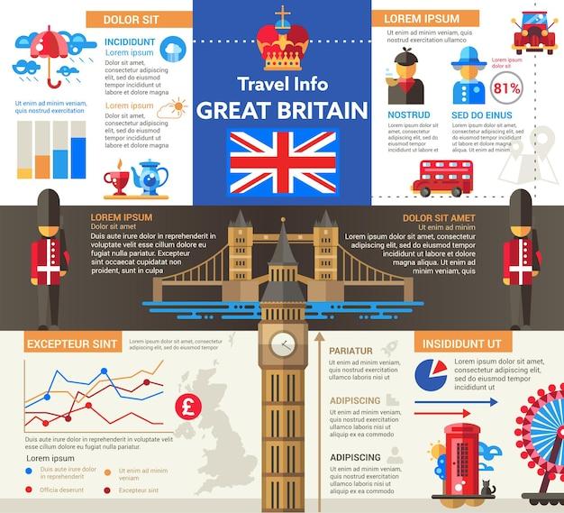 イギリスへの旅行-情報 Premiumベクター