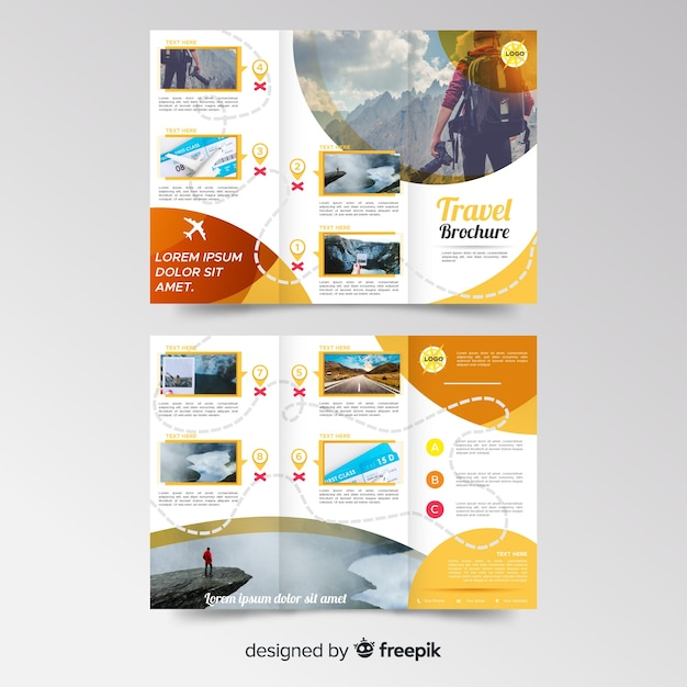 Tri Fold Travel Brochure Template Free from image.freepik.com