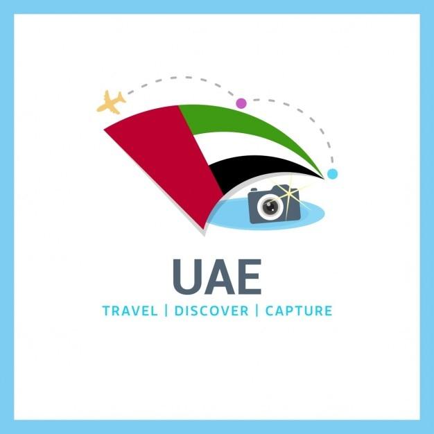 Travel to united arab emirates Free Vector