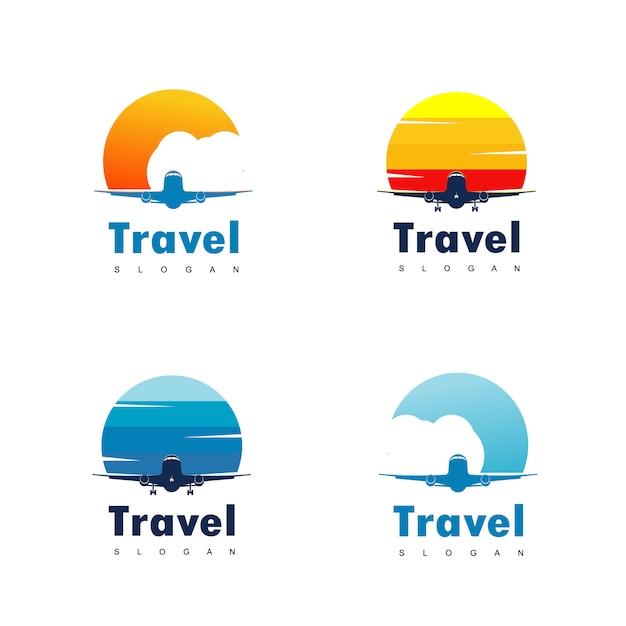 Дизайн логотипа travel Premium векторы