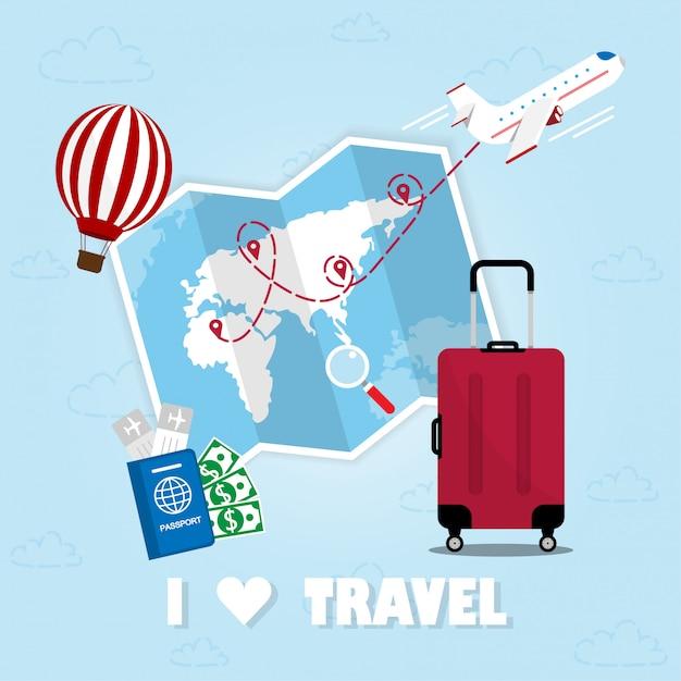 Travel Premium Vector