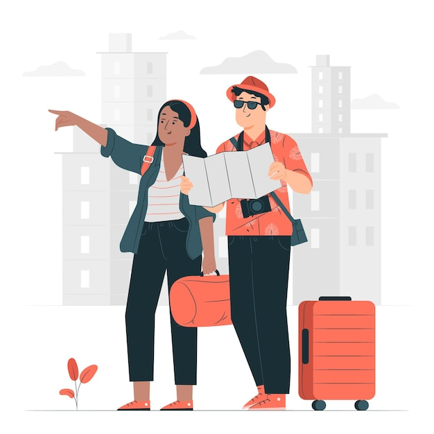 Travelers concept illustration Free Vector